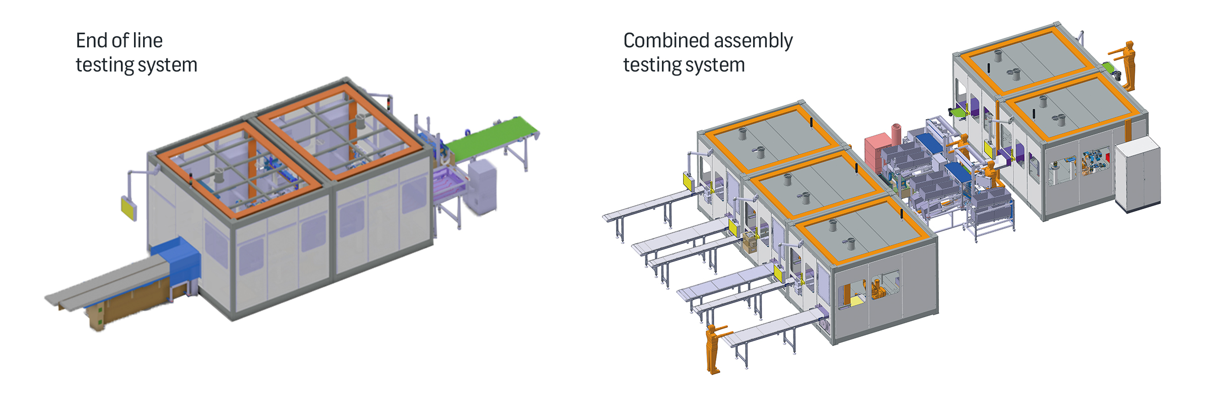 Assembly Testing Lines module connectors